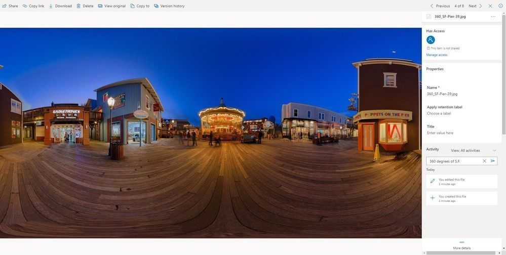 360 degree image previewer