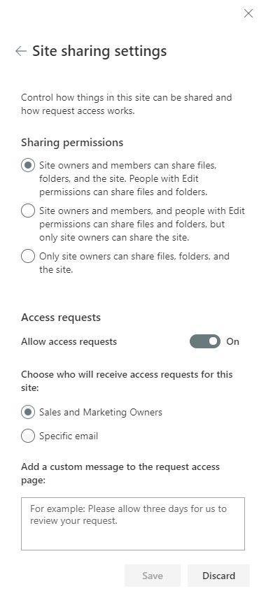 Manage Sharing