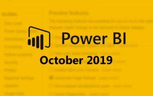 Power BI improvements for October