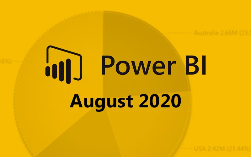 Power BI August 2020