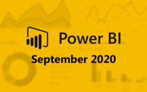 Power BI september 2020